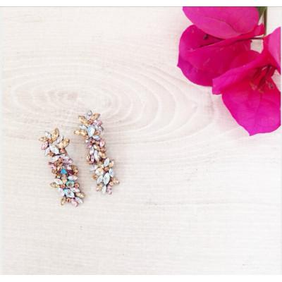 Σκουλαρίκια κρεμαστά με πέτρες